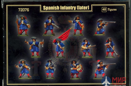 MR72076 MARS 1/72 Spanish Infantry (Later)