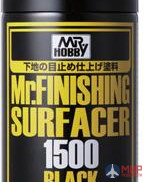 B-526 Gunze Sangyo Paint primer in metal. cans of MR.MR HOBBY.SURFACER 1500 BLACK 170ml