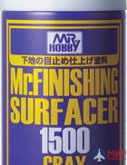 B-527 Gunze Sangyo Paint primer in metal. cans of MR.MR HOBBY.GREY SURFACER 1500 170ml