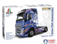 3942 Italeri автомобиль  VOLVO FH4 Globetrotter Medium Roof  (1:24)