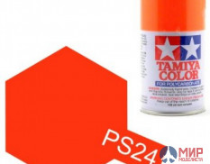 86024 Tamiya PS24 Fluorescent Orange Spray