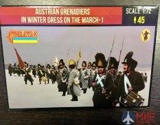 72209ST Strelets  Austrian Grenadiers in Winter Dress on the March 1, 1/72