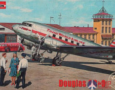 ROD309 Roden 1/144 Самолет Douglas DC-3 Trans World Airlines, late 1930s