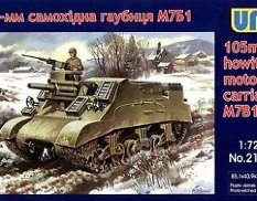 UM1-212 UM 1/72 105-mm Gun Motor Carriage M7B1