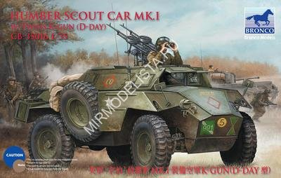 CB35016 Bronco Models 1/35 БТР Humber Scout Car Mk. I w/twin k-gun (D-day version)