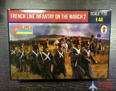 72220ST Strelets French Line Infantry on the March 2, 1/72