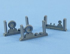 Ns72094-a North Star Models 1/72 Wheels set for Spitfire 4 spoke
