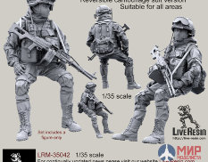 LRM35042 Live Resin Russian Army machinegunner in modern infantry combat gear system, set 4