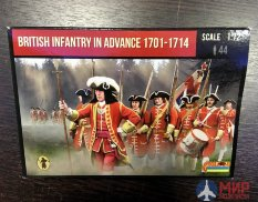 72230ST Strelets British Infantry in Advance 1701-1714 1/72