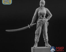 NS-F54/32029 North Star Models Figure 54 mm Lady Cyborg figure with acrylic base