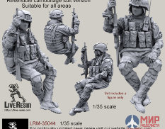 LRM35044 Live Resin Russian Army soldier in modern infantry combat gear system, set 6