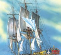 115059 Modelist 1/150 Sailing Ship