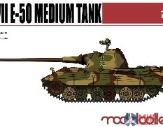 UA72018 Modelcollect 1/72 Танк Germany WWII E-50 Medium Tank with 88 gun