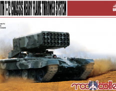 UA72009 Modelcollect 1/72 Russian  TOS-1A Heavy Flame Thrower System W/T-72 Chassis