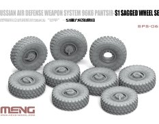 SPS-068 Meng Model 1/35 RUSSIAN AIR DEFENSE WEAPON SYSTEM 96K6 PANTSIR-S1 SAGGED WHEEL SET (RESIN)