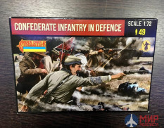 72249ST Strelets Confederates Firing 1/72 Strelets