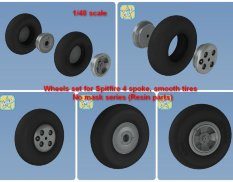 NS48051-a North Star Models 1/48 Колеса Spitfire wheels set (4 spoke, smooth tires, resin parts)