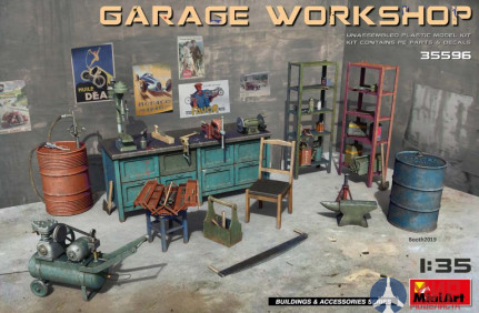 35596  MiniArt аксессуары  Garage Workshop  (1:35)