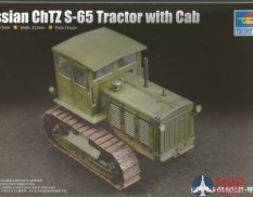 07111 Trumpeter 1/72 Советский артиллерийский тягач Russian ChTZ S-65 Tractor with Cab