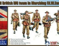 35GM0014 Gecko Models WWII British MG Team in March (N.W.Europe)