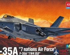 12561 Academy самолёт  F-35A 'seven nations Air Force'  (1:72)