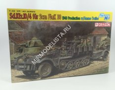 6711  САУ Sd.Kfz.10/4 fur 2cm Flak 30 1040 Production with Ammo Trailer  (1:35) Dragon