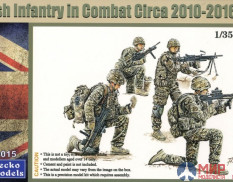 35GM0015 Gecko Models 1/35 British Infantry in Combat circa 2010-2016 Set 1