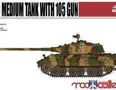 UA72040 Modelcollect 1/72 Танк Germany WWII E-50 Medium Tank with 105 gun
